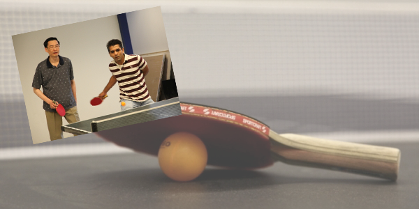 Ping pong at Toshiba Medical Research Institute USA