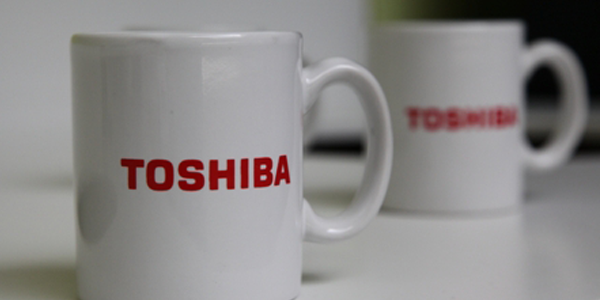 Toshiba coffee cups
